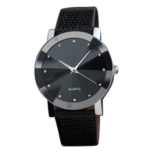 Men Quartz Watch Stainless Steel/PU Leather Strap Analog Wristwatch Style Watches GK99