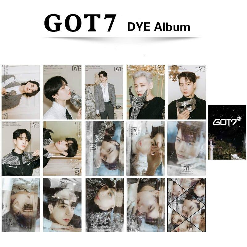 15 teile/satz Kpop GOT7 photocard NEUE Album Farbstoff Doppelseitige HD druck für fans sammlung K-pop GOT7 lomo karte hohe qualität Neue Karte