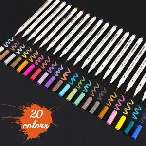 15/20/30 Colors Metallic Marker Pens Glass Pens Use on Any Paper, Glass, Plastic, Pottery, Wood Surface
