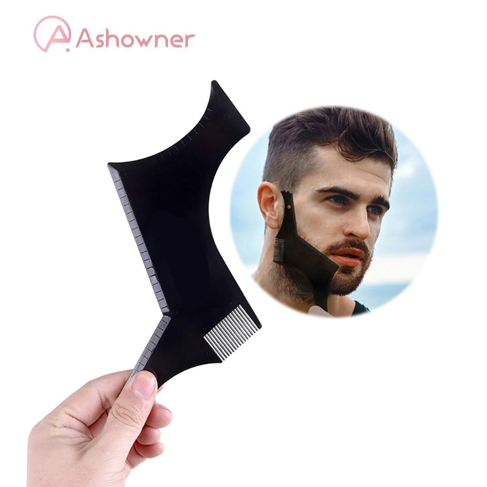 Men Beard Comb Beard Shaping Styling Template Comb Stencil for Men's Beards Trim Combs Lightweight Flexible for All-In-One Tool all for beard
