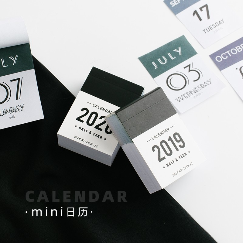 Настольный мини-календарь JIANWU 2020, декоративный блокнот с календарем, блокнот для рукоделия, журнал поставок, не липкий