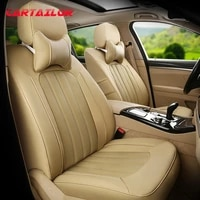 cartailor car seat cover cowhide artificial leather styling for acura tl seat covers support auto accessories for cars seats