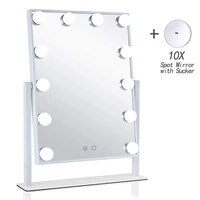 hollywood style vanity cosmetic lighted led bulbs makeup mirrors 12x3w dimmable touch control tricolor gifts for women christmas