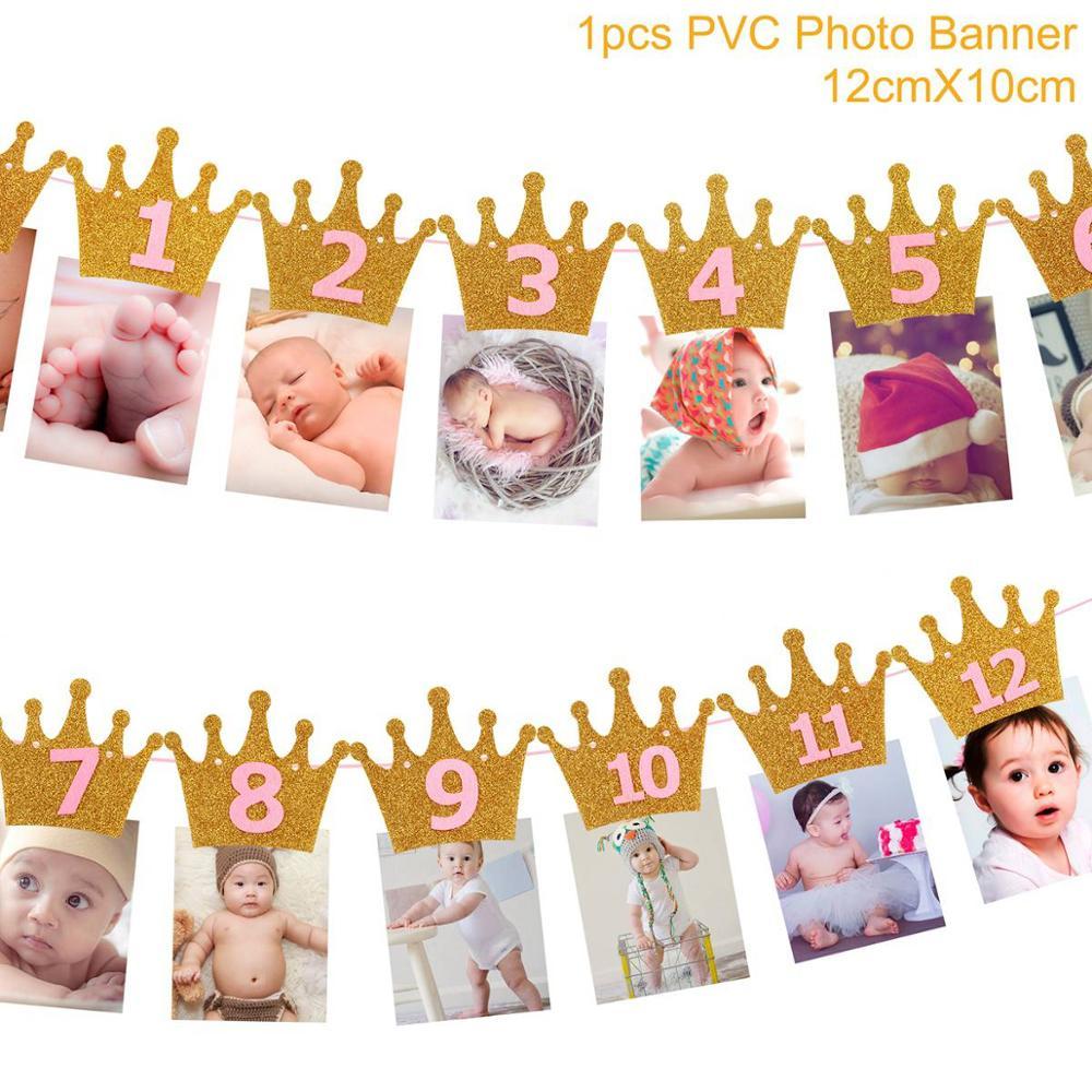 Banderole banderole drapeau pour premier anniversaire   Décoration de réception-cadeau pour bébé garçon de deux ans et un an, banderole de joyeux anniversaire pour enfants
