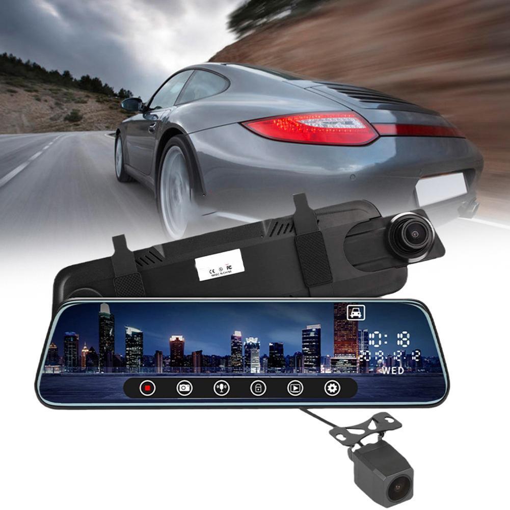 Автомобильный видеорегистратор, зеркало заднего вида с 10-дюймовым экраном, ночным видением