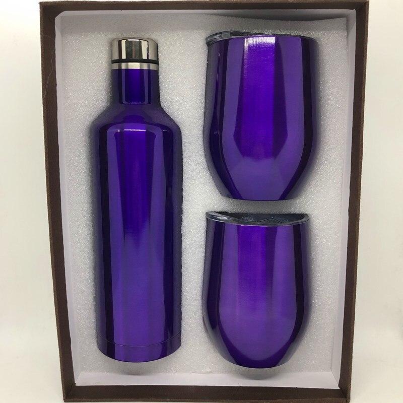 Swig-مجموعة زجاجات النبيذ المصنوعة من الفولاذ المقاوم للصدأ ، 1 زجاجة 2 بيضات ، كوب عازل ، كوب وزجاجة ، صندوق هدايا