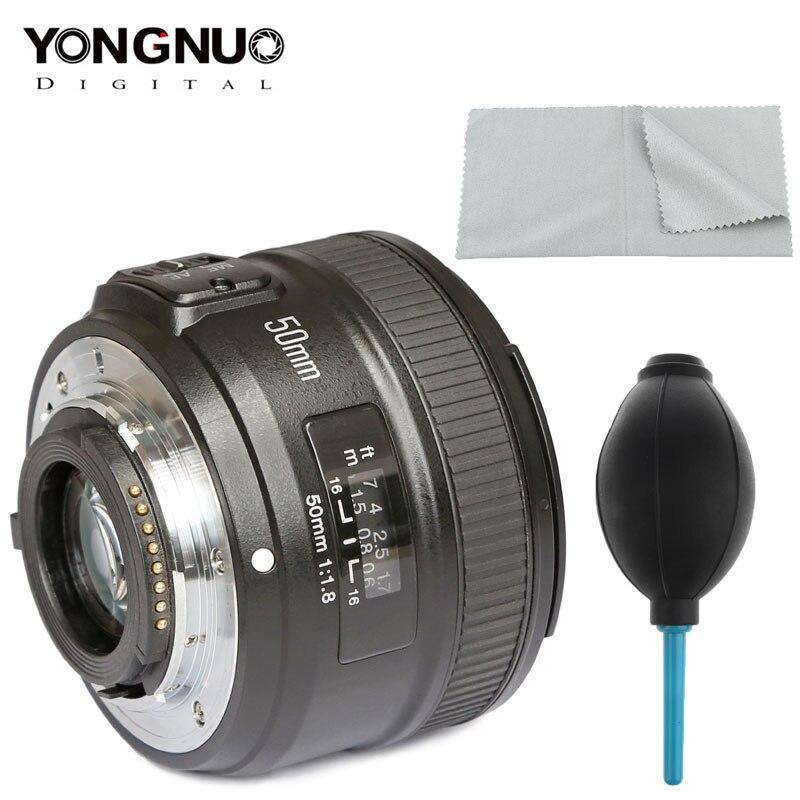 YONGNUO YN50mm F1.8 lente para Nikon D800 D300 D700 D3200 D3300 D5100 D5200 lente de cámara DSLR para Canon EOS 60D 70D 5D2 5D3 600D