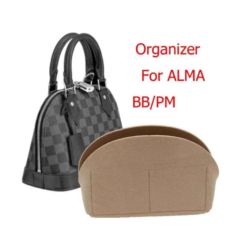 For Alma BB bag Insert Organizer Makeup Small Handbag Organize Inner Purse Portable Cosmetic bing Sh