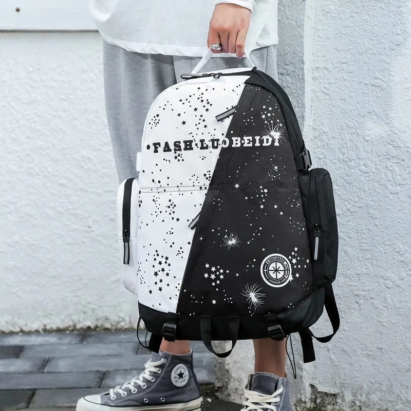 Мужские школьные ранцы, рюкзаки для книг для девочек, рюкзаки для путешествий в юниорском стиле для пар, мужские вместительные рюкзаки на мо...