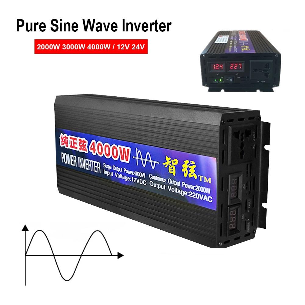 conversor de tensao dc 12v 24v para ac 220v onda senoidal pura inversor 2000w 3000w