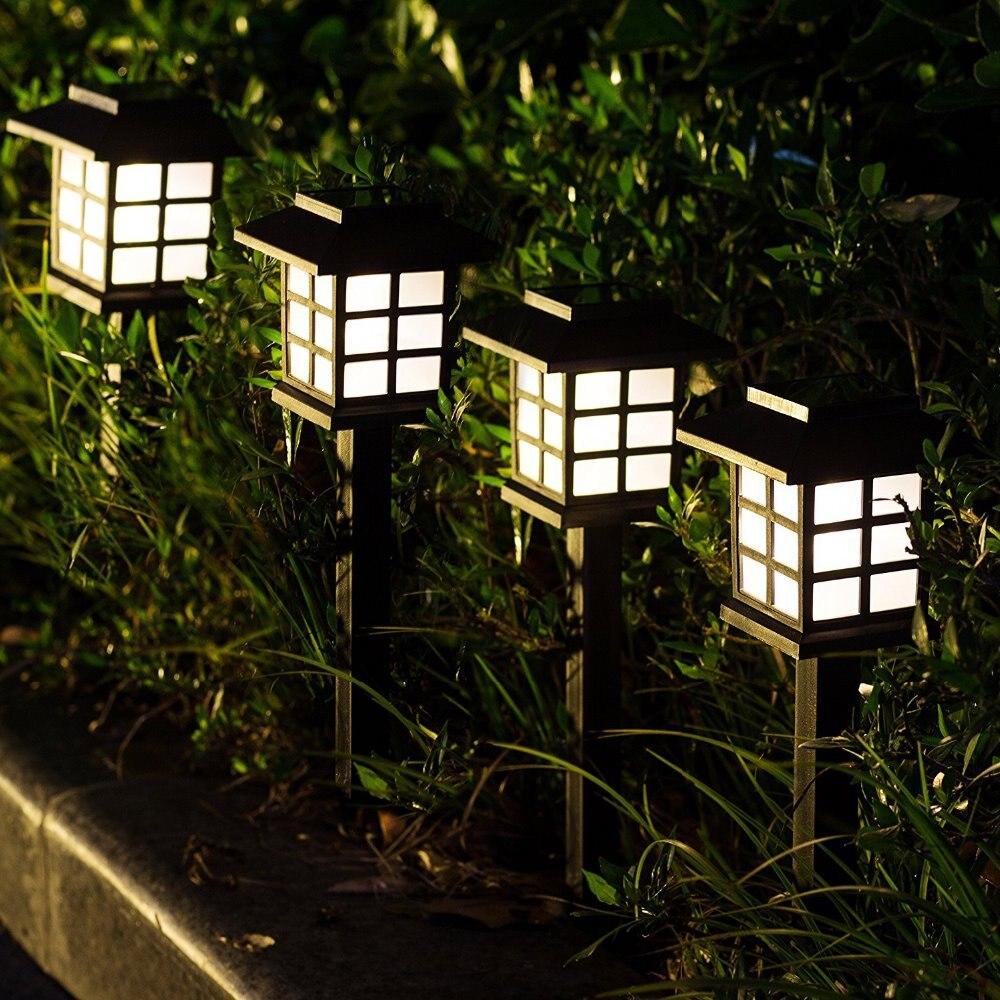 Водонепроницаемые светодиодные фонари на солнечной батарее, уличная лампа для освещения сада, ландшафта, двора, патио, подъездной дорожки, ...