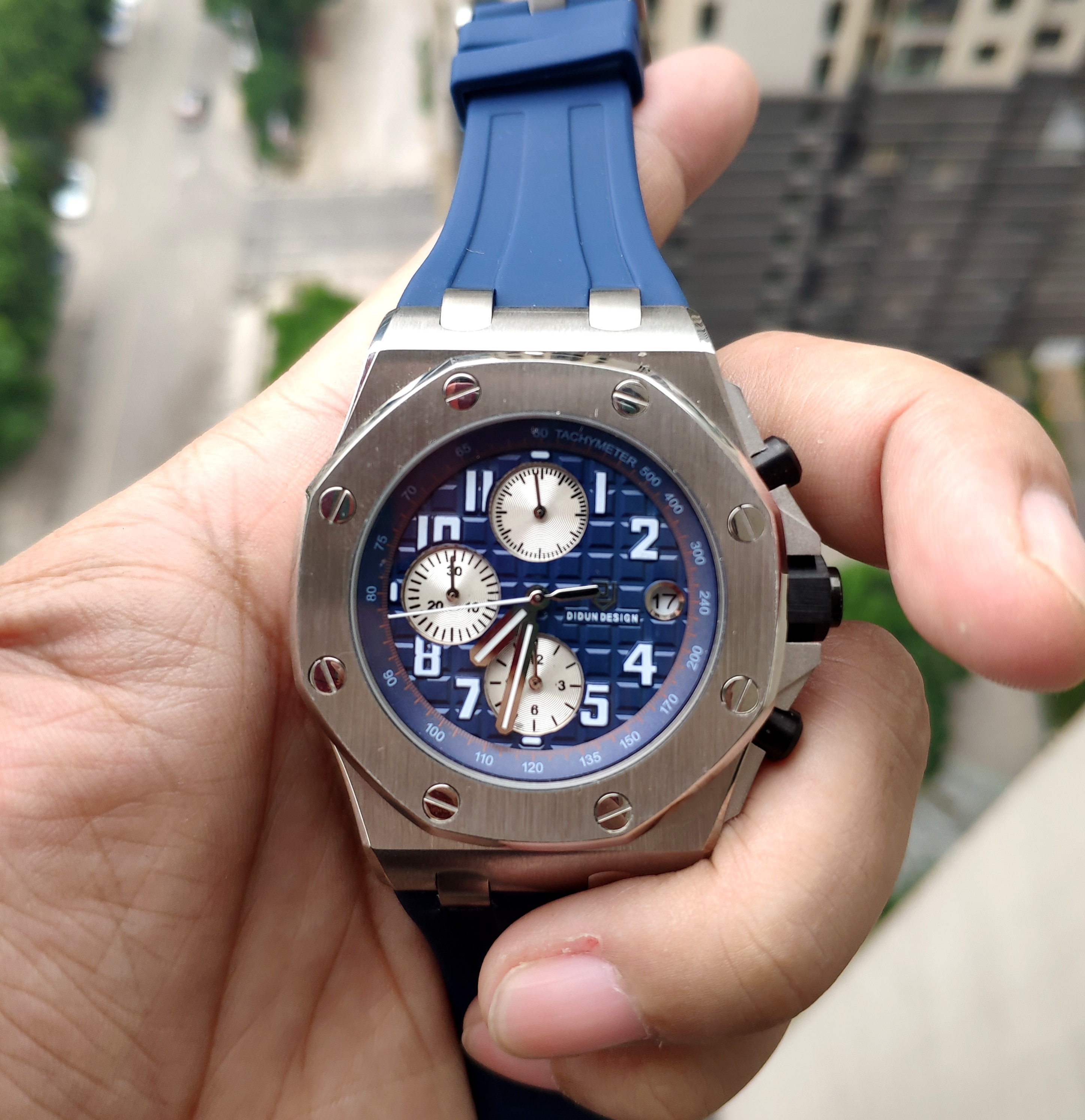 Didun الرجال الفاخرة العلامة التجارية كوارتز ساعة رقمية غواص الرياضة مضيئة للرجال العلامة التجارية الأعلى ساعة اليد مقاومة للماء