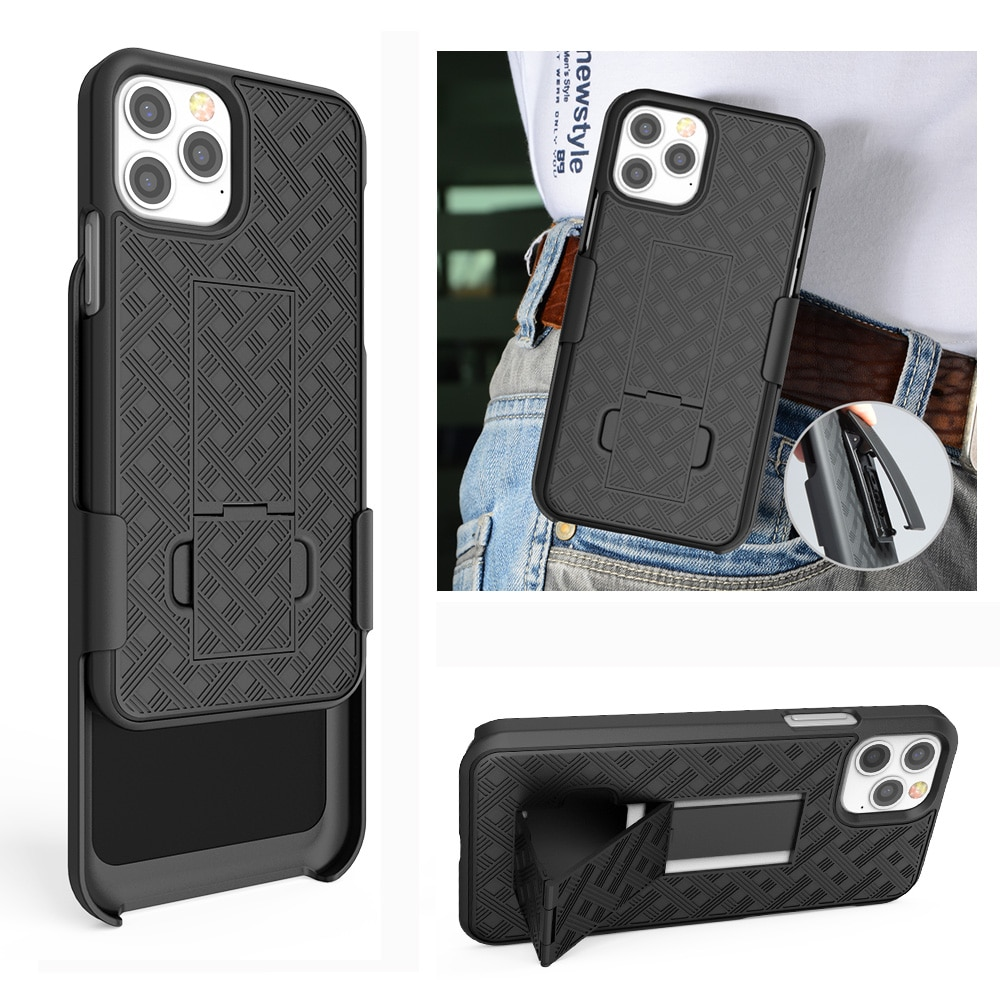 Belt Clip Case for iPhone 12 11 Pro Max 12mini  XS XR X Anti-Slip Shockproof Belt Clip Holder Stand Phone Back Cover