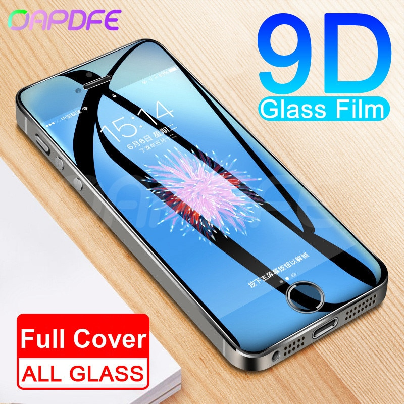 9D Protective Glass on the For iPhone 5S 5 5C SE Tempered Screen Protector Safety Glass For iPhone 5