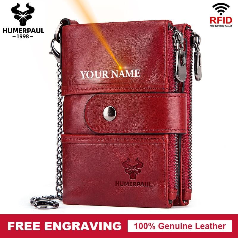 Free Engraving 100% Cow Genuine Leather Women Wallet Female Coin Purse Small Card Holder Fashion PORTFOLIO Portomonee Hasp