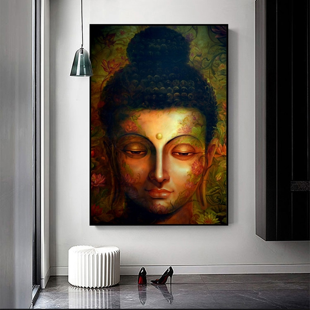 Buddha Abstract Wall Art Canvas Prints Modern Pop Street Graffiti Paintings Buddhism Pictures for Home Decor