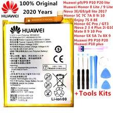 2020 100% dorigine HB366481ECW réel 3000mAh batterie pour Huawei P9 Ascend P9 P10 Lite P20 Lite G9 honour 8 5C batterie + Kits doutils