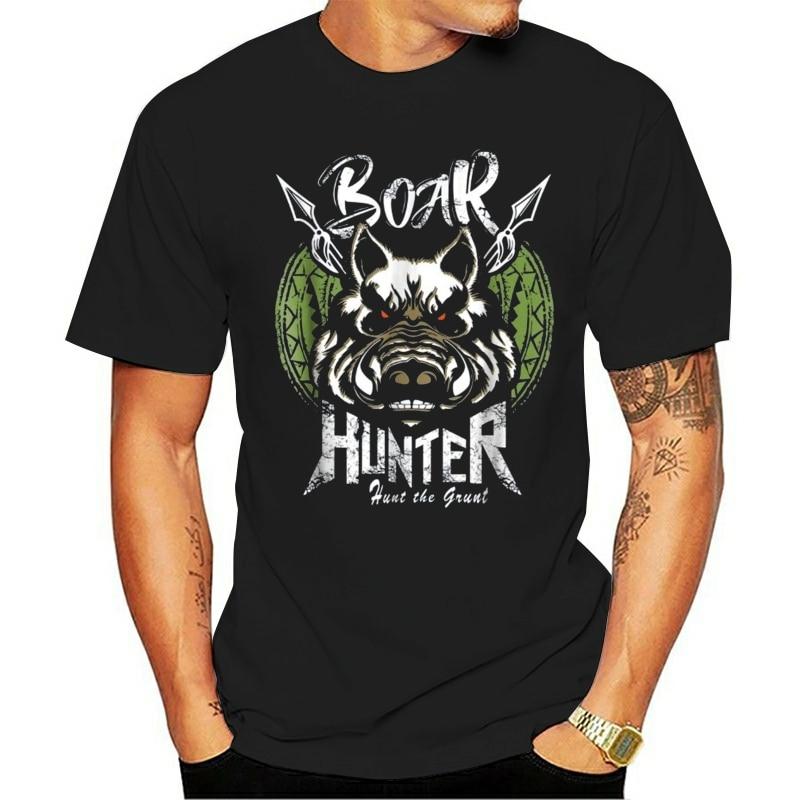 Funny 2020 Summer Clothes Street Wear Men Lovely Hog Hunting Round Collar Boar Hunter Tops Tee Short-Sleeve T Shirt