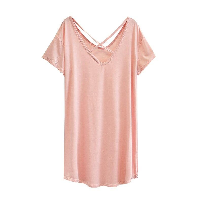 Mulheres verão camiseta senhora camisetas feminino cor sólida manga curta topos casa modal moda plus size A11-6031