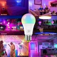 Lampe LED intelligente a intensite reglable  minuterie wi-fi  telecommande vocale  lampe de reveil  fonctionne avec Alexa et Google Assistant