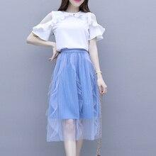 Two-Piece Mesh Slim Dress Women 2020 Spring Summer Chiffom Drss Short Sleeve Ruffles Korea Style Sweet Girls Dress Vestidos