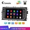 "Camecho 2 דין 7 ""אנדרואיד 8.1 רכב רדיו GPS מולטימדיה נגן GPS Navi עבור פורד פוקוס EXI MT 2 3 Mk2/מונדיאו/S-MAX/C-MAX/גלקסי"