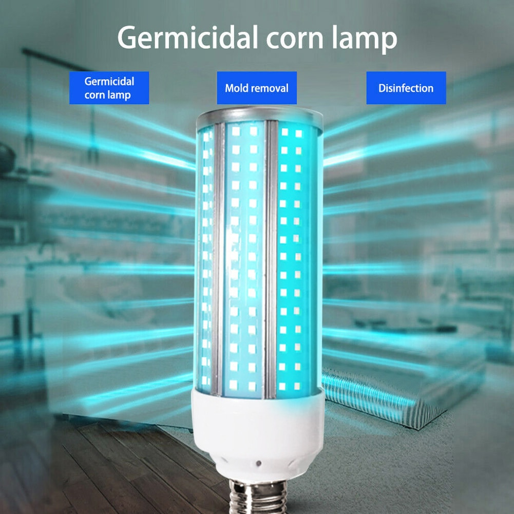 UV 60W lámpara LED Bombilla de uv-c E27 hogar bombillas de luz con Control remoto para casa LFX-ING