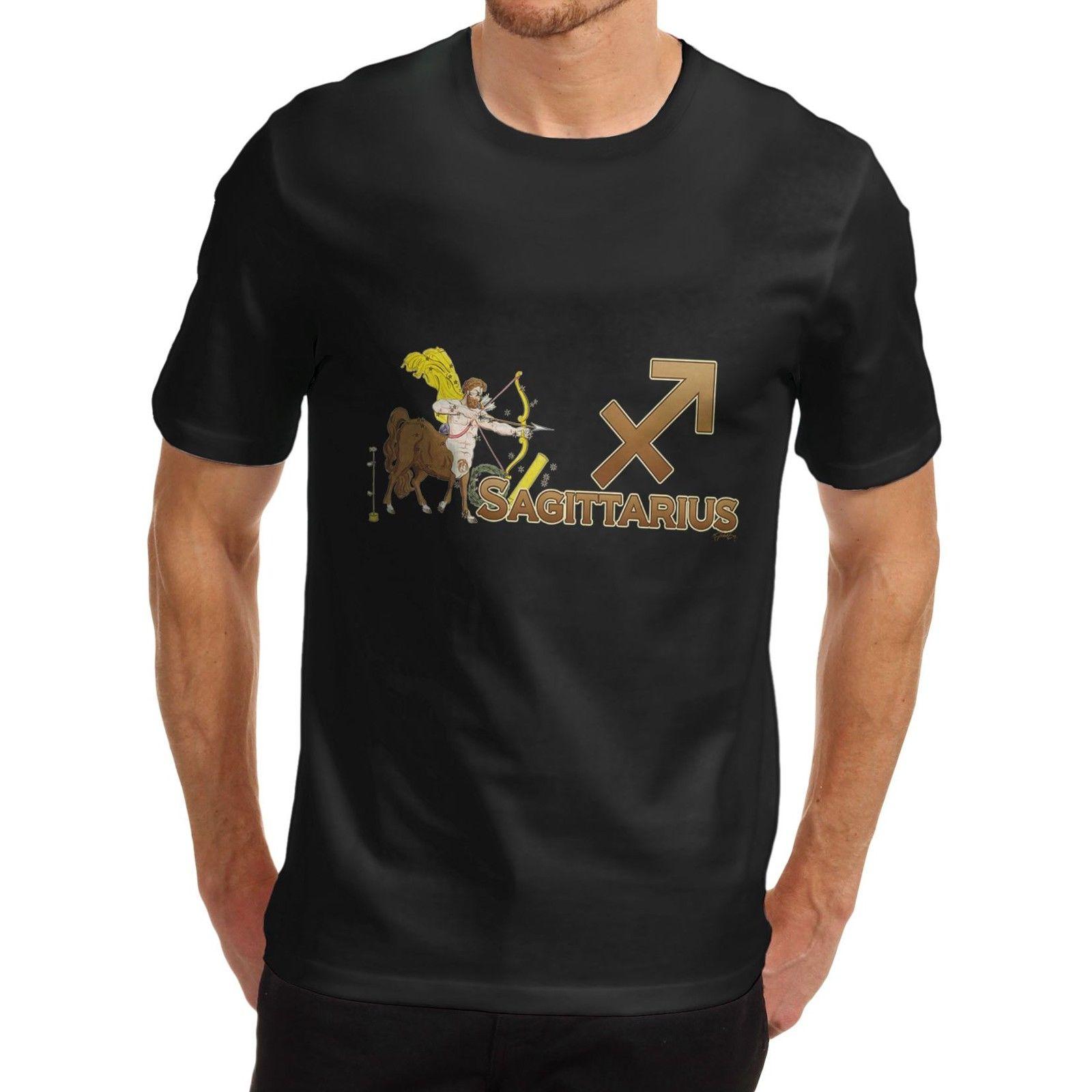 Zodíaco Sagitario para hombres, signo astrológico novedoso, camiseta 3D para hombres, camiseta barata caliente de manga corta para hombre, moda 2018