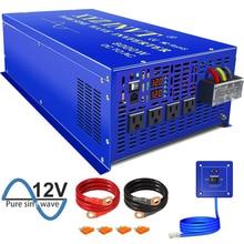 Vente chaude 8000W pur onduleur à onde sinusoïdale 12V 24V 36V 48V cc à AC 220V hors réseau onduleur solaire avec télécommande filaire
