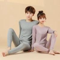 big children pajamas sets long sleeve autumn winter wool cashmere high quality homewear sets for boys girls underwears 160 180cm