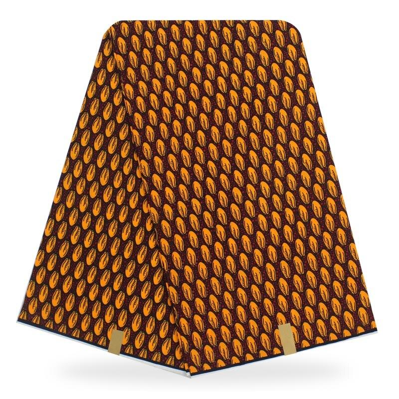 Cera africana de tela de algodón 100%, cera estampada 2020, cera Real Africana de moda, 6 yardas