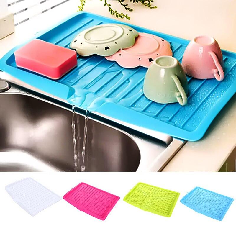 Новая кухонная посуда столовые приборы капельная тарелка Раковина Кухня пластик блюдо лоток-сушилка большая сушилка над раковиной столешн...