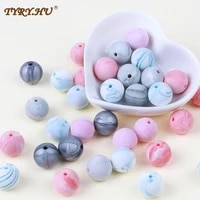 12mm 10pcs silicone beads bpa free material for diy baby teething beads necklace toy gift food grade baby teether tyry hu