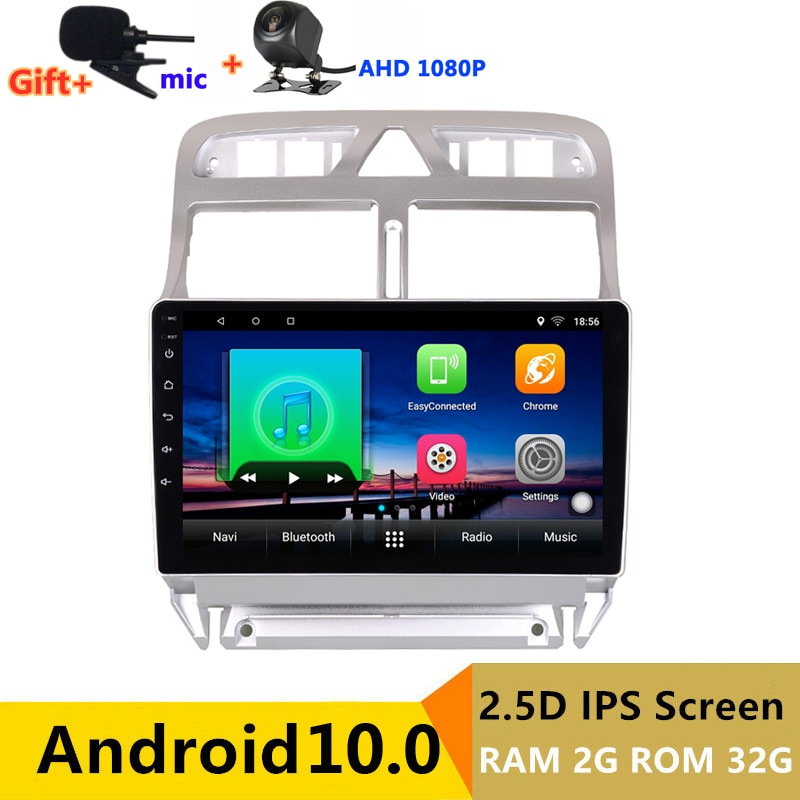 2 din android coche radio estéreo para coche para Peugeot 307 sw 2002 cc 03 2004, 2005, 2007, 2013 de navegación GPS DVD reproductor Multimedia