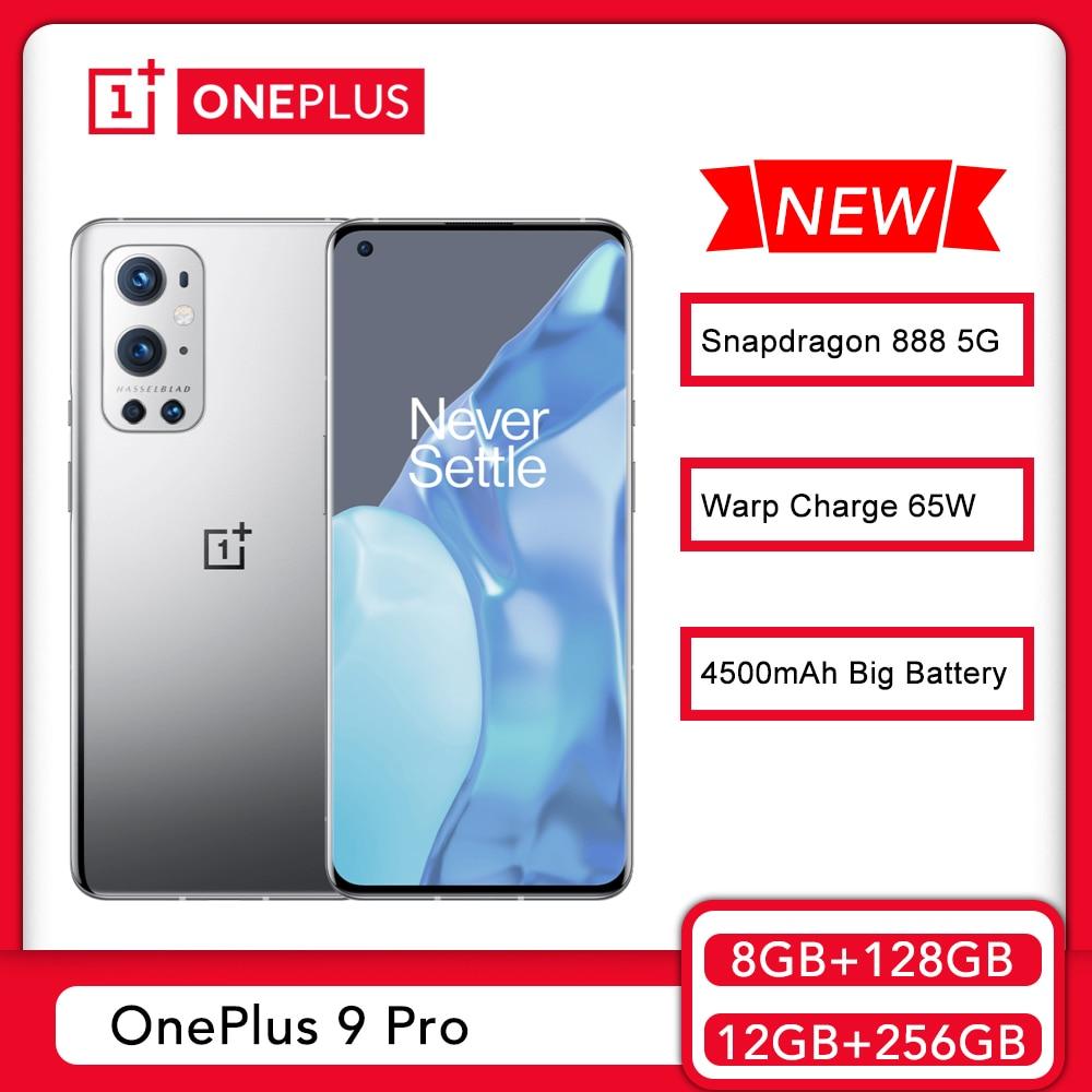 New Original OnePlus 9 Pro 5G Smartphone Snapdragon 888 120Hz Fluid Display 2.0 Hasselblad 50MP Ultra-Wide Oneplus 9pro Phone