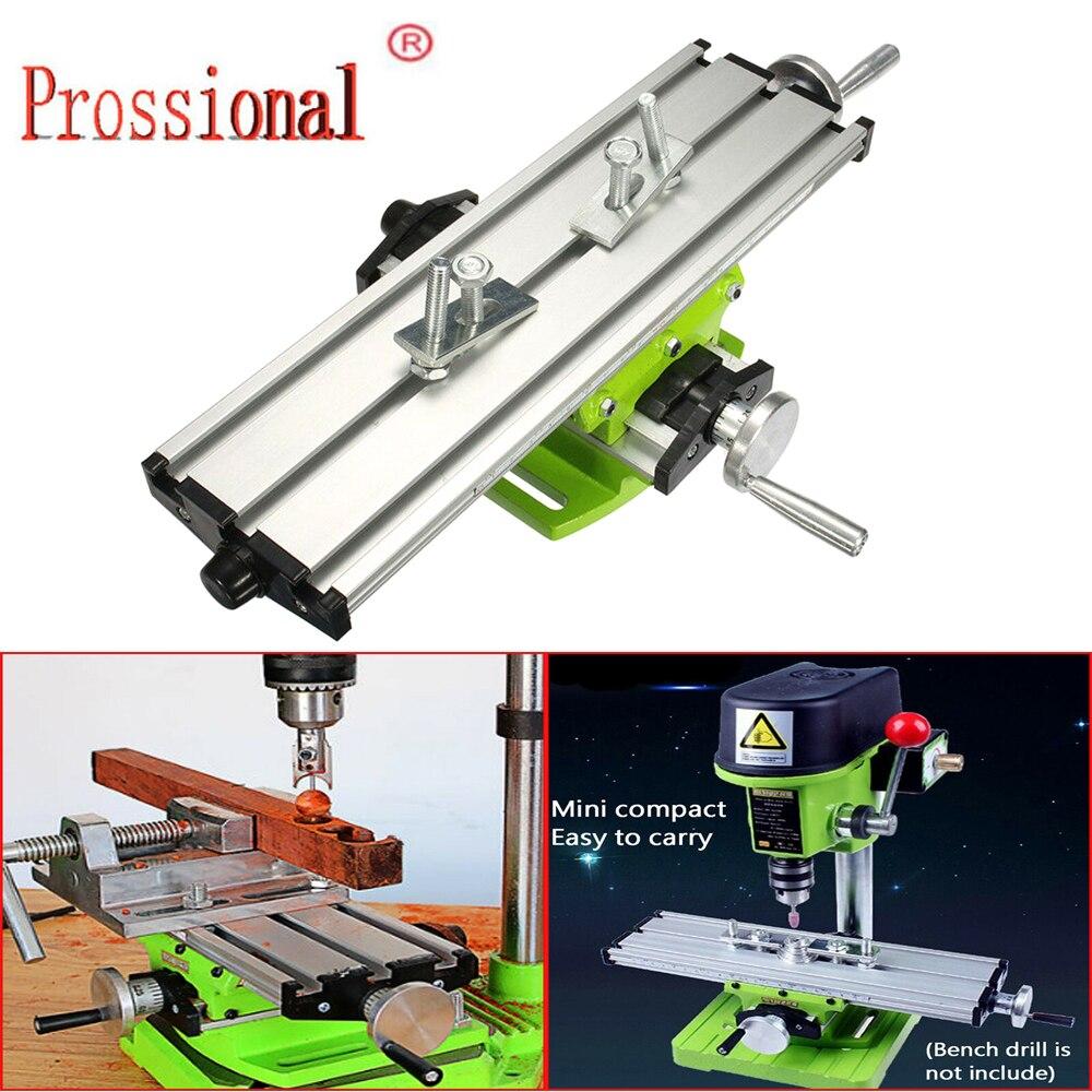 Mini fresadora de precisión mesa de trabajo multifunción accesorio de tornillo Tabla de deslizamiento transversal
