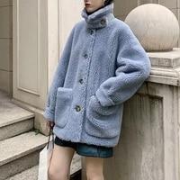 cashmere fleece cut coat womens short autumn and winter new granular cashmere lamb wool composite fur integrated fur coat warm