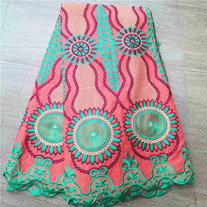 5 yardas de tela de encaje suizo 2020 último encaje seco bordado africano 100% telas de algodón suizo voile lace popular estilo Dubái G28-9