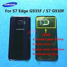 Terug Glas Vervanging Voor Samsung Galaxy S7 Rand G935 G935F G935FD S7 G930 G930F G930FD Batterij Cover Achterdeur Behuizing case