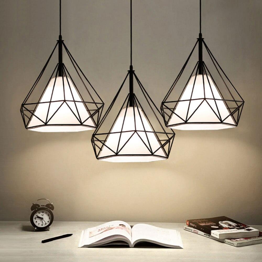 Современный подвесной светильник, черная железная висячая клетка, винтажная Светодиодная лампа E27, промышленный Лофт, ретро, столовая, ресторан, барная стойка