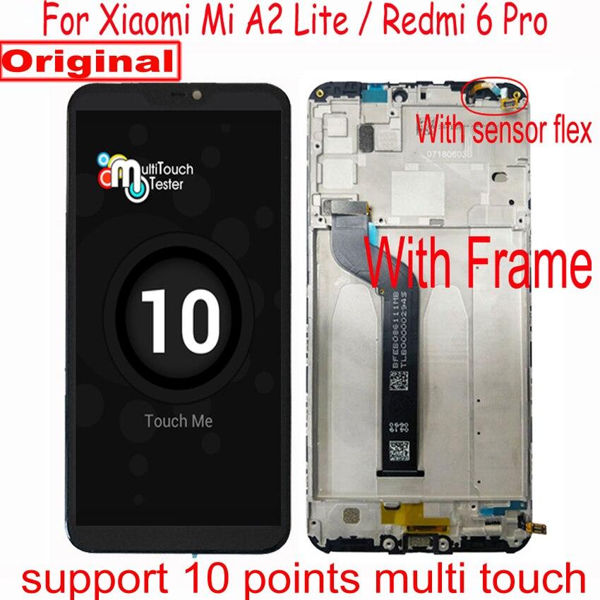 Original LTPro LCD Für Xiaomi Redmi 6 Pro / Mi A2 Lite MiA2 Lite Display Touch Panel Screen Digitizer Montage + rahmen Pantalla