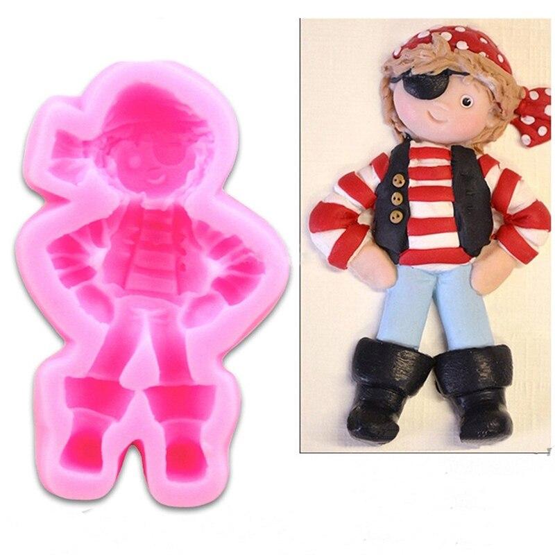 Molde de silicona de Navidad pirata muñeca Linda Cupcake Stand Reposteria Fondant...
