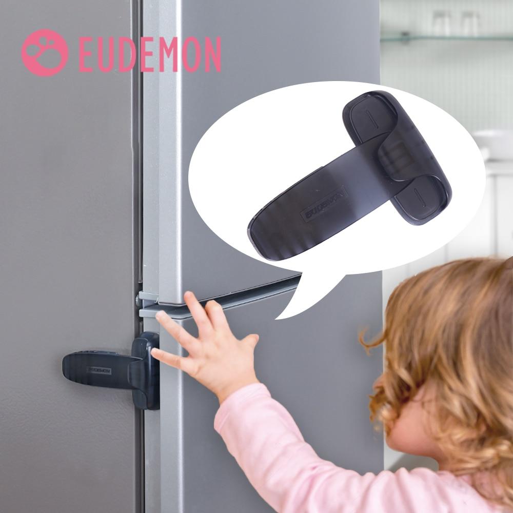 EUDEMON 2 шт. ребенок Безопасность замок для холодильника однодверная камера замок холодильника для Кухня защиты детей Детские Безопасность ух...
