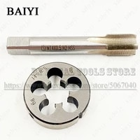 m14x0 5 m140 5 standard machine tap straight groove tap circular plate die hand tool set round tapping die tapping thread kit