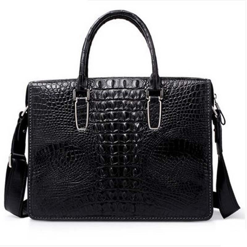 yuanyu crocodile leather male handbag men cross section crocodile leather business men bag single shoulder bag male briefcase