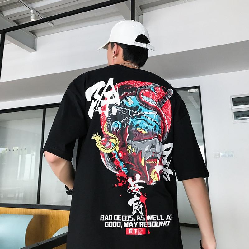 Футболка мужская оверсайз с коротким рукавом брендовая тенниска в стиле хип хоп