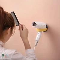 1 piece of 8 9 cm wall mounted bathroom hair dryer bracket storage rack bathroom shelf hanger toilet self adhesive bracket