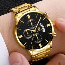 CH Luxury Brand Men's Watch Stainless Steel Strap Reloj Hombre Quartz Fashion Male Clock Wrist Relog