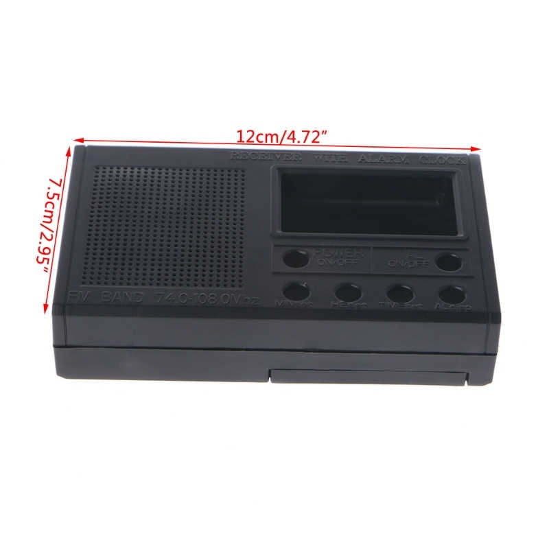 DIY LCD FM Radio Kit Electronic Educational Learning Suite Frequency Range 72-108.6MHz enlarge