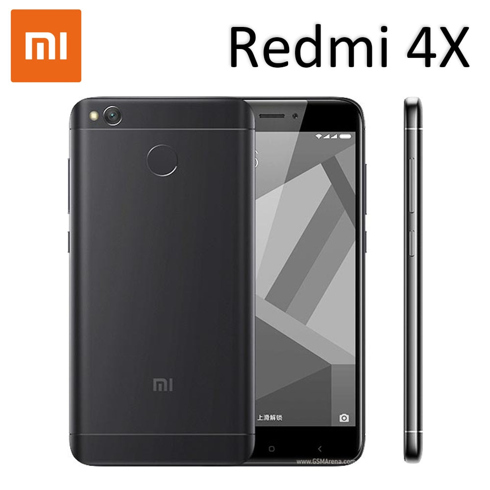 smartphone Xiaomi redmi 4X Google play 4000mAh HD screen Snapdragon 435 13.0MP rear camera
